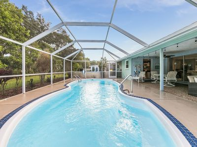 Photo for Screened, heated pool - Sarasota home near Siesta Key Beach