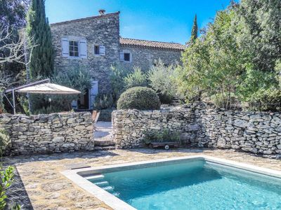 Photo for Authentic Provence landhouse in Goudargues, Gard, with private pool