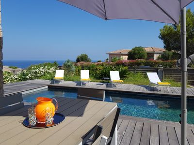 Photo for BEAUTIFUL CONTEMPORARY VILLA WITH TWO STEPS FROM THE BEACH AND SHOPS