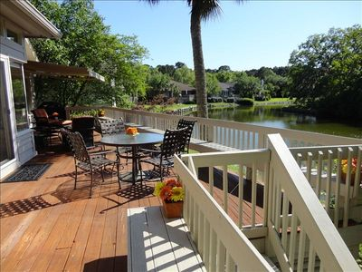 Large deck and lagoon view