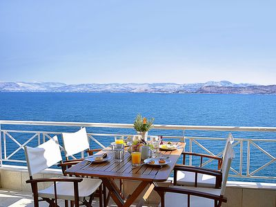 Photo for Waterfront Apartment | Unique sea view balcony, near Nafplio, Mycenae, Epidaurus
