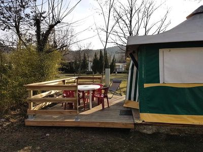 Photo for Camping Saint-Amand *** - Canvas Bungalow Eco 3 Rooms 5 Persons