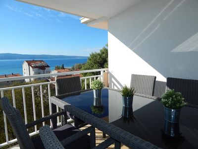Photo for Three bedroom apartment with terrace and sea view Duće, Omiš (A-946-a)