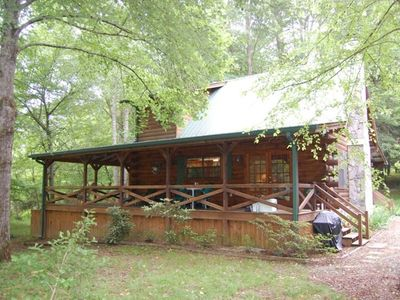 Photo for Cozy Getaway on Toccoa River! Hot Tub and River Deck!