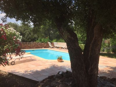 Photo for Villa 3 bedrooms with private pool 10km from the sea any comfort for 6 pers