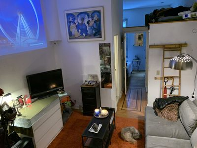 Photo for Cool & cozy 1 BR Apt w addition loft & back patio