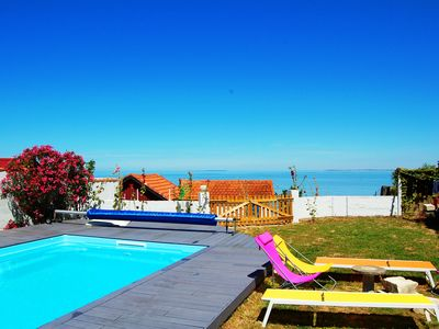 Photo for FACE SEA, Views on the islands, Great house 12-14 people with swimming pool
