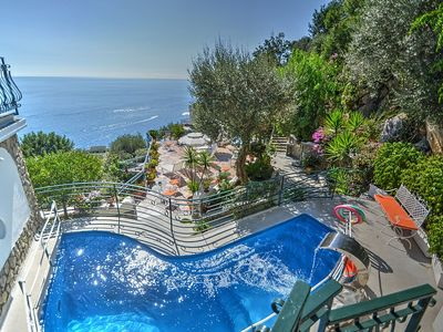 Photo for Villa Iside: A luxurious villa built sheer above the sea, with Free WI-FI.