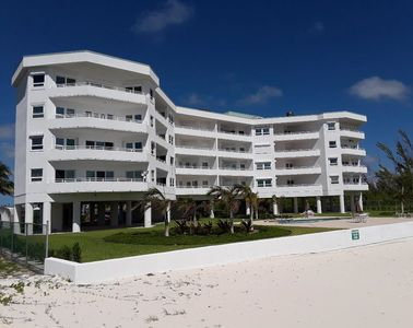 Bahama Reef building as seen from beach