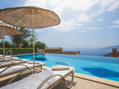 Photo for Unobstructed sea views, a Magnificent pool terrace and colossal infinity pool
