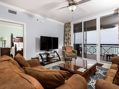 Photo for Beautiful Gulf Front Condo! Sleeps 8, Pools Onsite, Nearby Activities, Shops, & Restaurants!