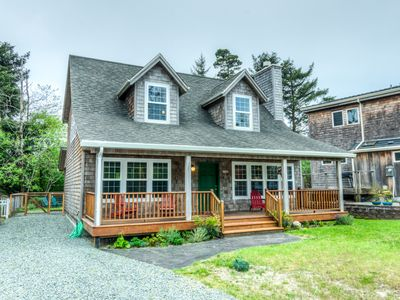 Photo for WHISPERING WHALE LODGE~is a lodge-style home full of charm and natural beauty