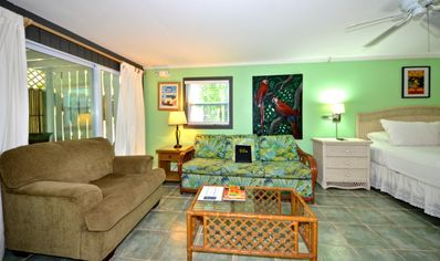 Photo for Deluxe, ground-floor studio w/ view of the courtyard and pool - close to shops