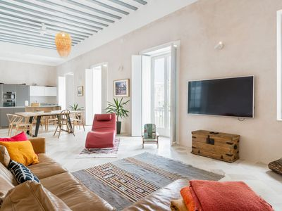 Photo for Luxury Apartment in Dreamlike Location with Gorgeous Design, Rooftop Terrace, Air-Conditioning & Wi-Fi