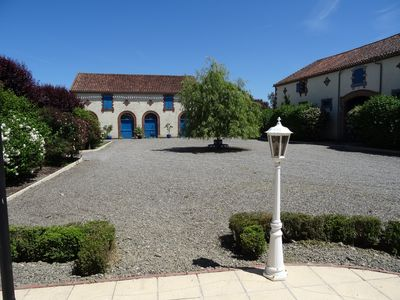 View of the courtyard from the Gite