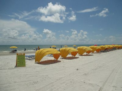 Beautiful Madeira Beach with Chair/Umbrella Rental