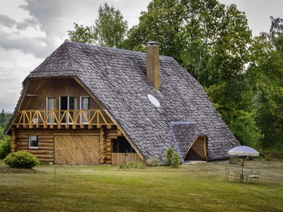 Photo for Artistic and relaxation stay in a large log house