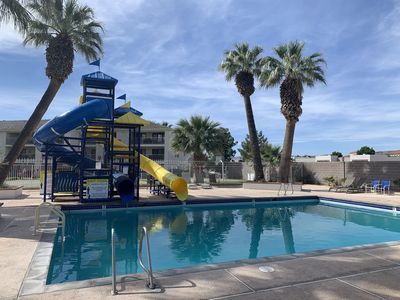 Photo for Cozy Resort Condo with family-friendly pools