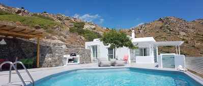 Photo for Wonderful Naxos house with private pool and breathtaking views of the Aegean Sea