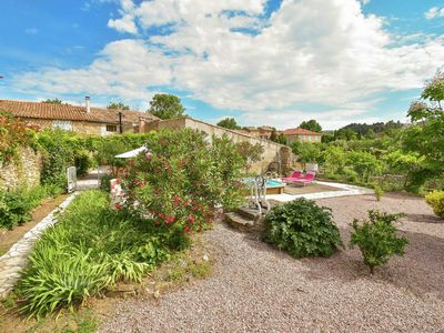 Photo for Spacious, quiet cottage with private pool in village in southern France