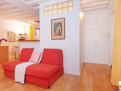 Photo for S02097 - Comfortable and warm studio for 4, Montorgueil area