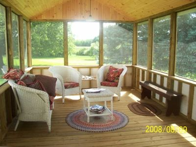 Enclosed Screened Porch at Back of House