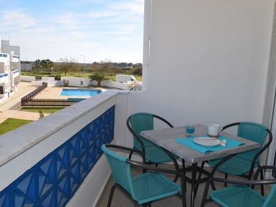 Photo for LUZIA SANTA Apartment- Apartment condo in T2 with pool and near the beach