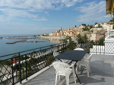 Photo for MAGNIFICENT 2 ROOMS PANORAMIC SEA VIEW - TOP FLOOR - TERRACE - PARKING