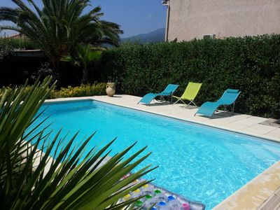 Photo for YOUR HOLIDAYS IN THE SUN OF CORSICA BY THE SWIMMING POOL
