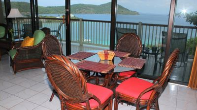 Dining area seats 4.  Gorgeous views while you dine!