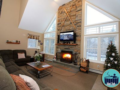 Photo for Deluxe home with private hot tub & game room, close to the skyship gondola