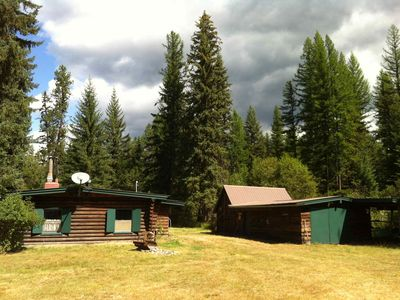 Photo for Experience The Montana Wilderness In A Comfortable Rustic Creekside Log Cabin