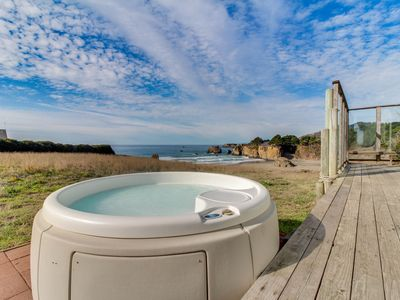 Photo for Dog-friendly home w/ private beach access, hot tub, & stunning views