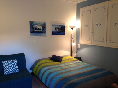Photo for BLUE NEST OF THE ARTISTS-CHARMING STUDIO-FREE WIFI-Menton in avenue Felix Faure