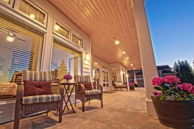 60' Covered Porches on both sides, provide wonderful, outdoor, relaxation space