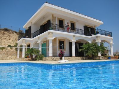 Photo for LUXURY VILLA, fantastic views, gorgeous sunshine April to November, Heaven!