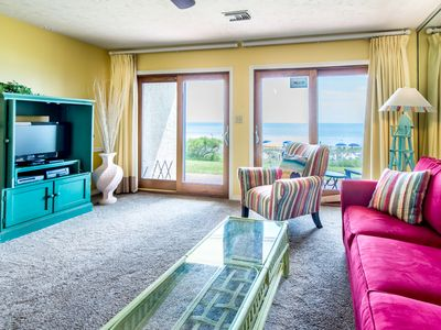 Photo for ⭐ Crystal Villas A-2⭐Oct 18 to 20 $634 Total! BeachFront w/Beach Service! Pool!