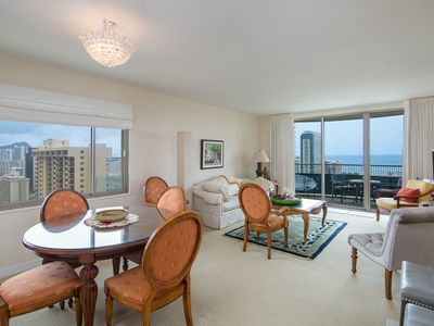 Photo for Luxury  Waikiki Condo with Panoramic Views /30 Day Minimum/No Smoking