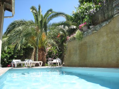 Photo for superb sea and mountain views, private pool, panoramic terrace 5 minutes from beaches