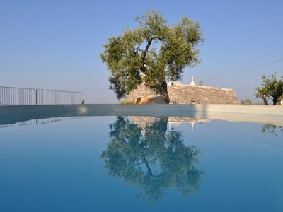 Photo for Luxury Trullo with WIFI,  private pool and amazing panoramic sea views