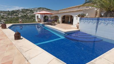 Photo for Villa Vista Ifach with beautiful sea views, private pool and very large garden