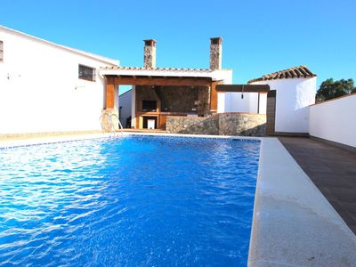 Photo for Beautiful, private pool, sun loungers, covered barbecue area with patio furniture - Casa Vazquez -