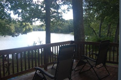 Hang out on the deck just off the dining room, relax and enjoy the view