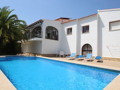 Photo for Sara - sea view villa with private pool in Calpe
