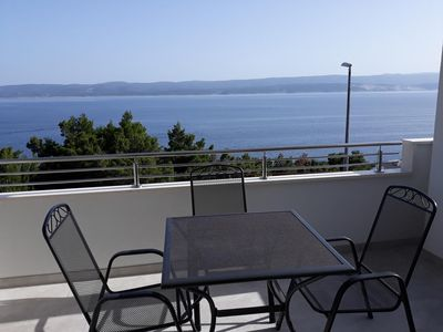 Photo for One bedroom apartment with terrace and sea view Medići (Omiš)