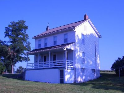 Photo for Private 1880's 3 bedroom home on 130 acre family cattle farm