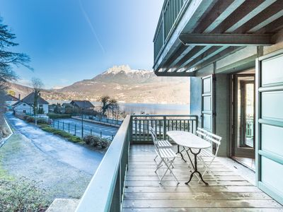 """Photo for """"Stylish Upper Loft"""" with view/private access to Annecy Lake"""