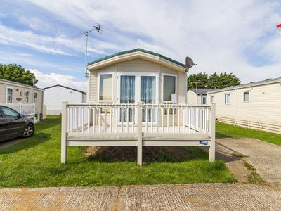 Photo for 6 berth caravan holiday home for hire with decking at St Osyth's Park ref 28004