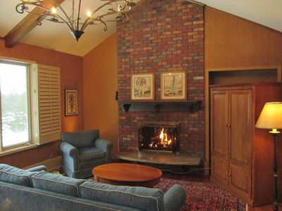 Inviting family room w/ gas fireplace is off kitchen. Great place to gather!
