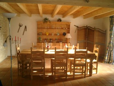 Dining area for 8 people